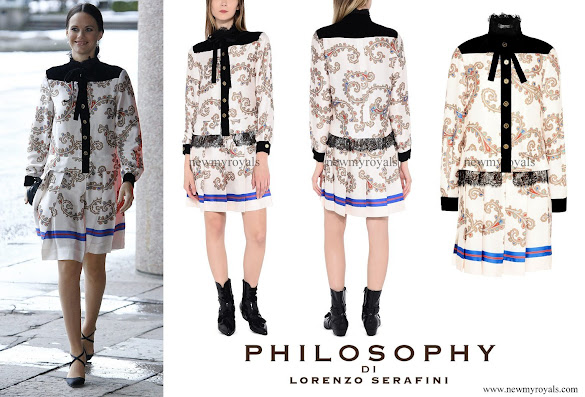 Princess Sofia wore Philosophy by Lorenzo Serafini casual dress
