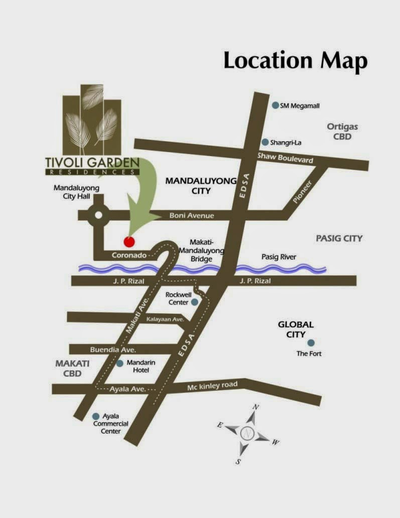 Tivoli Garden Residences Location Map