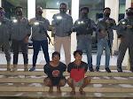 Bawa Panah Wayer dan Pisau Besi Putih, Dua Pemuda Kakenturan Diciduk Team Tarsius