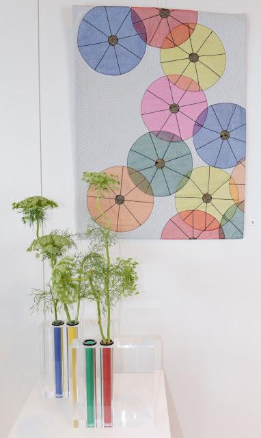 Art Quilt and Ikebana - Martine Mercier (Quilt) and Ariane Ruf (Ikebana)