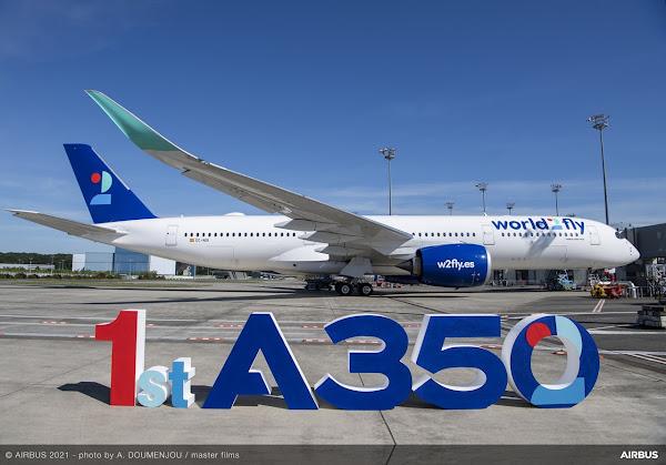 Entrega do 1º A350 à nova companhia aérea espanhola world2fly