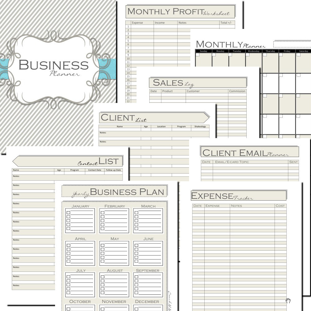 blogging planner which includes the following worksheets bussiness planner