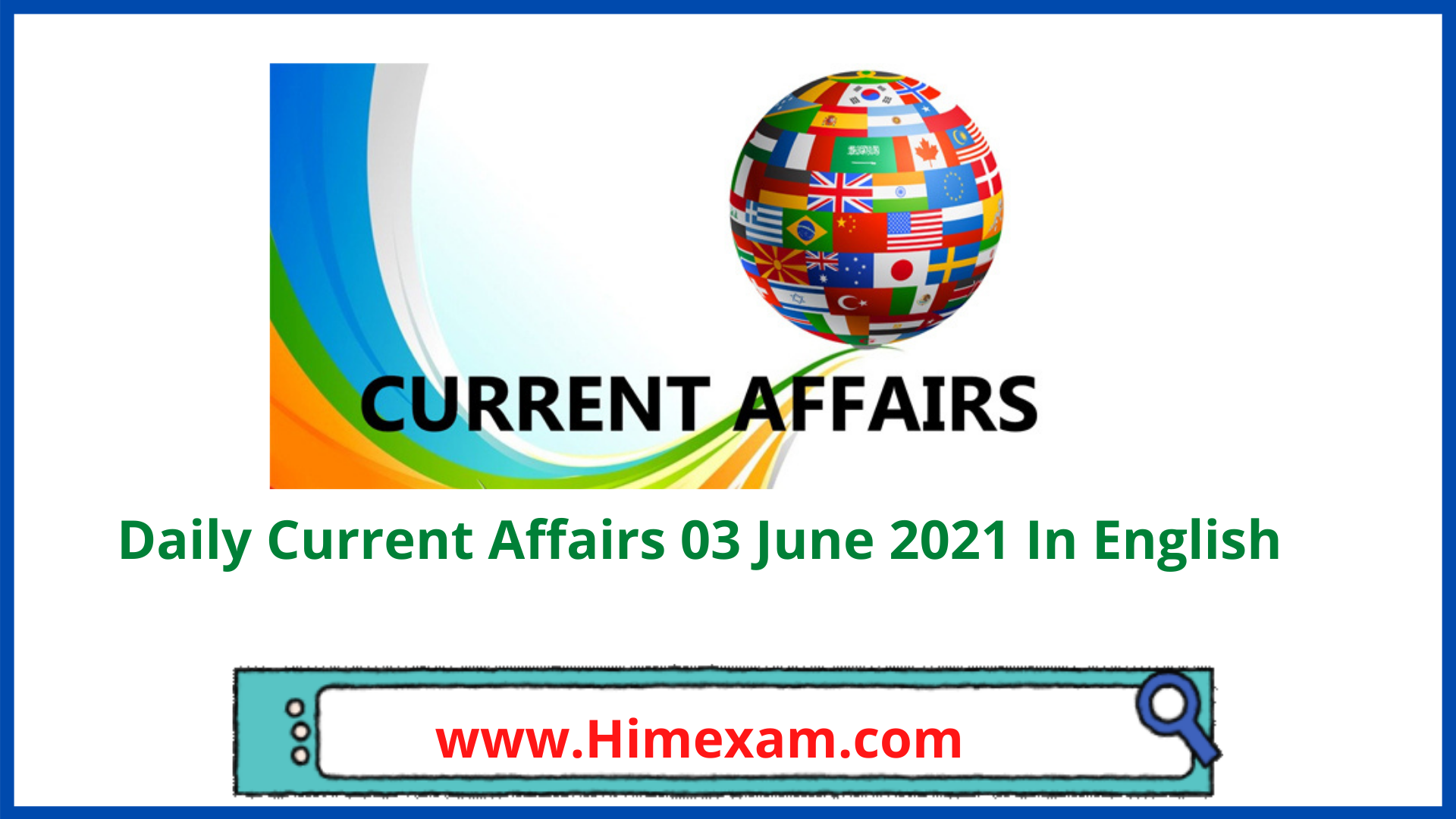 Daily Current Affairs 03 June 2021