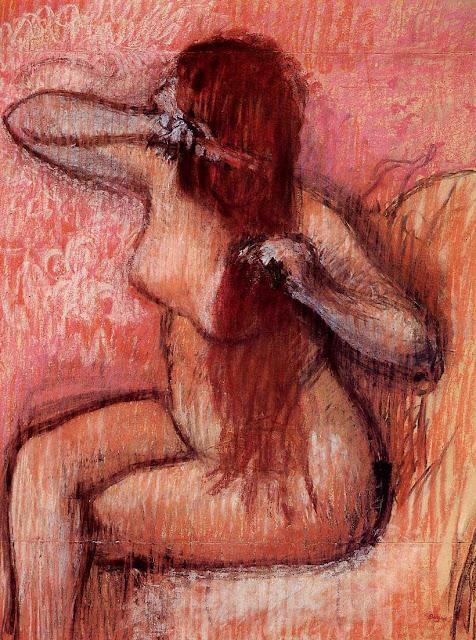 Эдгар Дега - Расчёсывание волос (1887-1890)