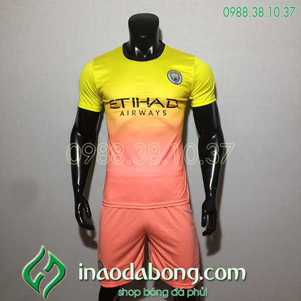 Áo bóng đá câu lạc bộ Man City màu vàng 2020