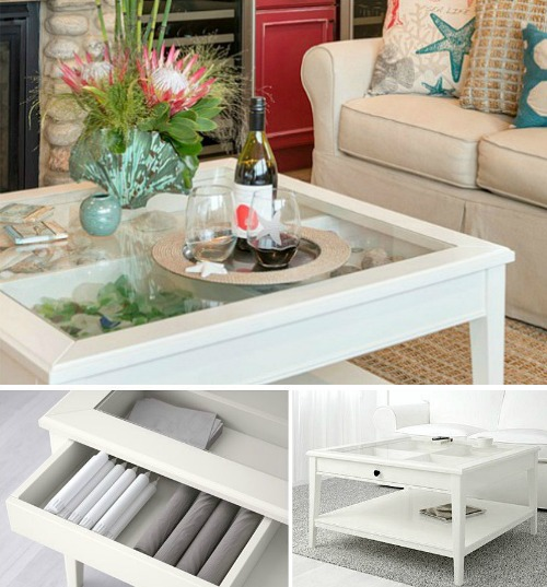 White Display Coffee Table
