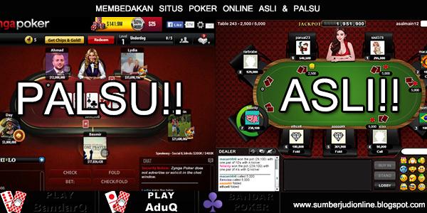 Hasil gambar untuk gambar Poker asli vs poker palsu