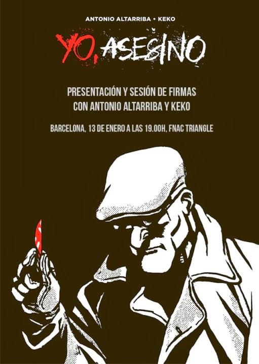 presentación y sesion de firmas de la obra Yo, Asesino