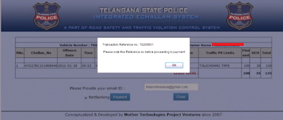 Step 4(a): Pay Traffic E-Challan Online
