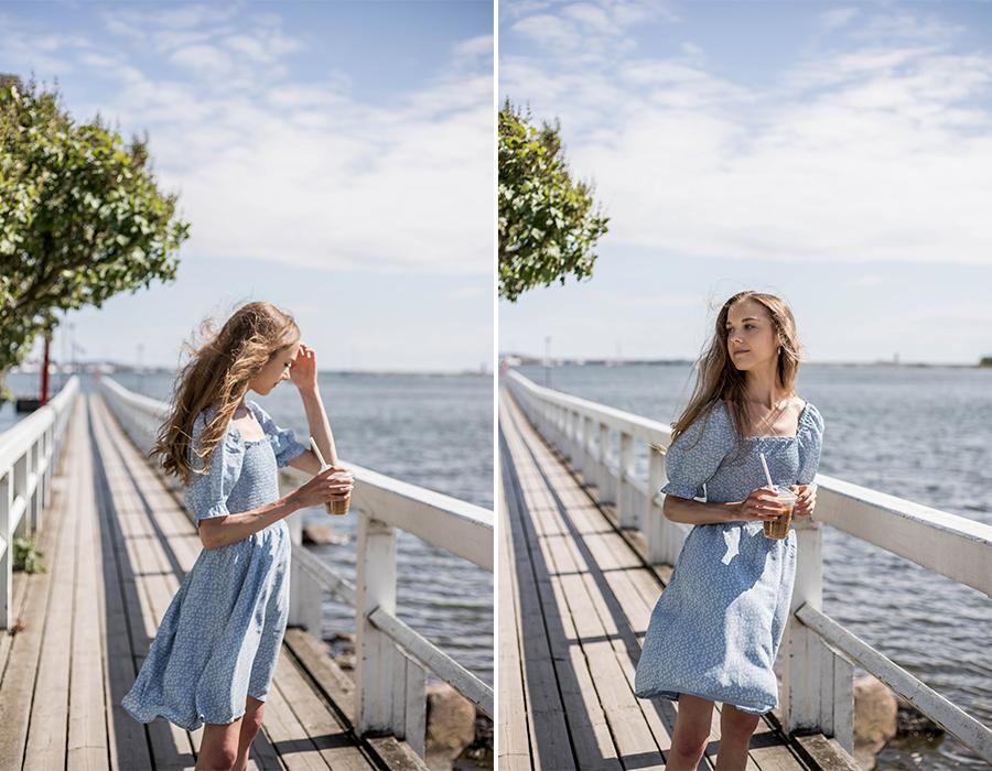 Sininen kesämekko // blue summer dress
