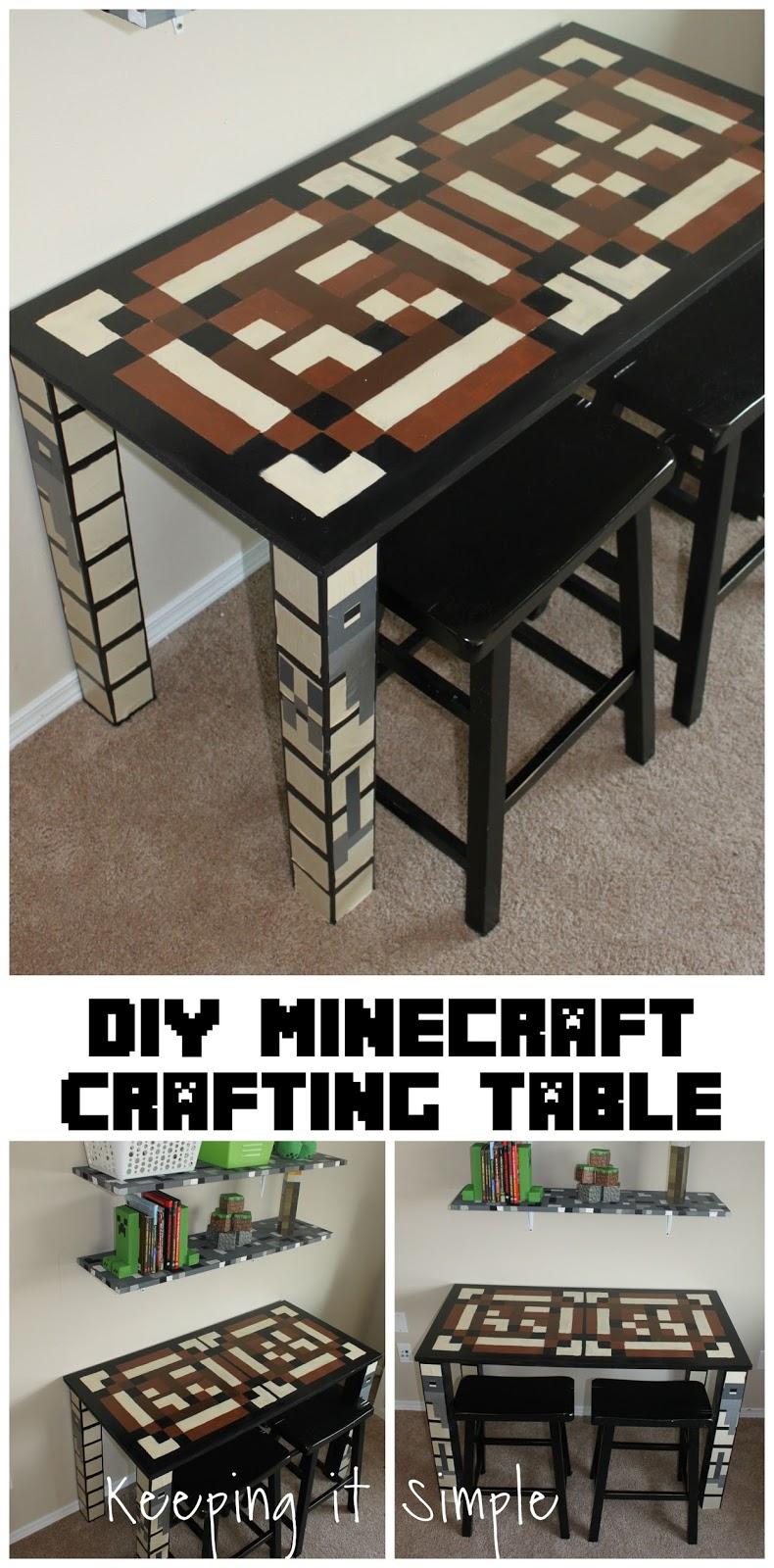 Boys Homework Station Diy Minecraft Crafting Table