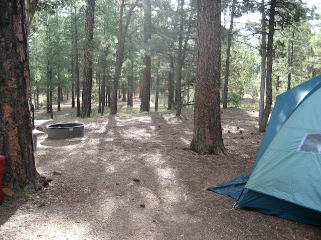 My tent at Grand Canyon. September 2007.