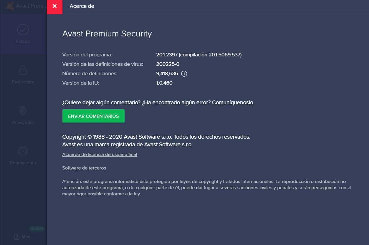Avast Premium Security 20.1.2397 (Build 20.1.5069) poster box cover