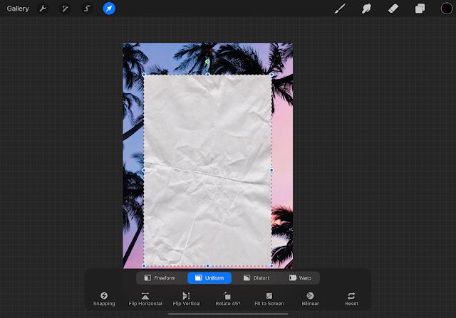 using overlay tool in Procreate App on iPad Pro