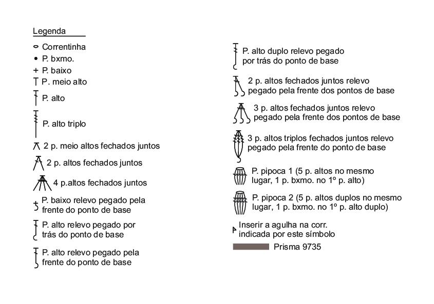 Схема вязания большой круглой салфетки «Кофейные взбитые сливки» (2))