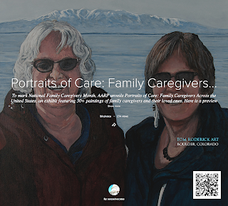 AARP Portrait of Care Alaska by Boulder portrait artist Tom Roderick