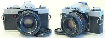 Minolta XG-9 (Chrome) Body #476, Minolta MD 50mm F1.7 #010