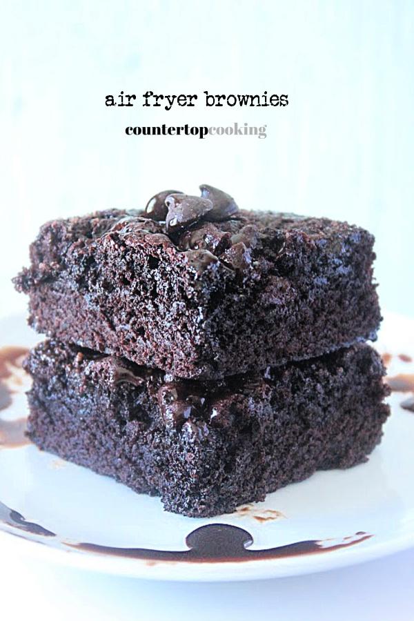 Air Fryer Brownies- Countertop Cookies #countertopcookingblog #airfryer #brownies #dessert