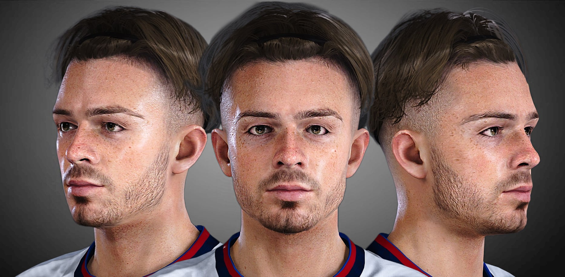 J.GREALISH by LR7_Face Convert FIFA21 for PES 2021