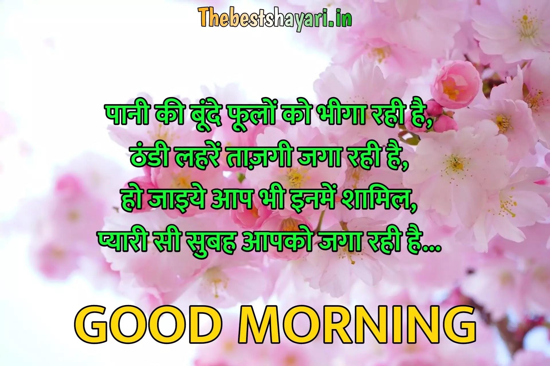 khubsurat good morning shayari in Hindi