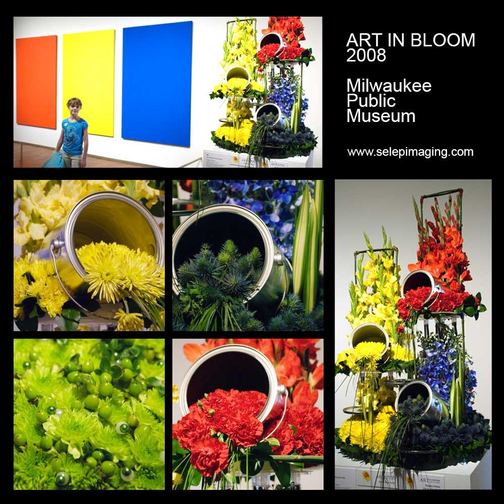 Milwaukee Art Museum Art in Bloom flower arrangements Jeanne Selep Imaging