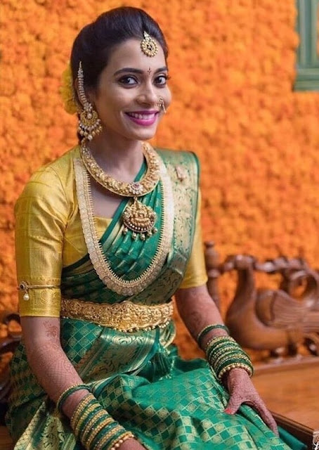 Bride in Nakshi Lakshmi Kante Vaddanam