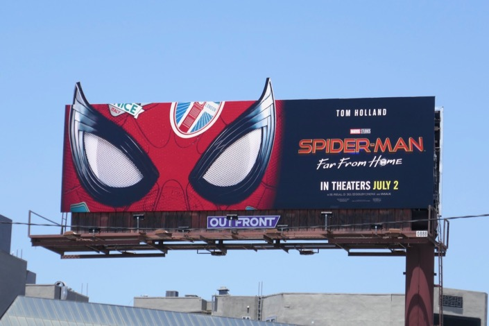 SpiderMan Far From Home mask extension billboard