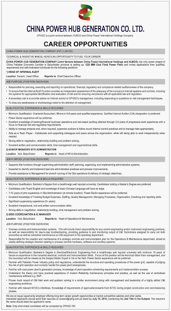 Jobs in China Power Hub Generation Company Jobs