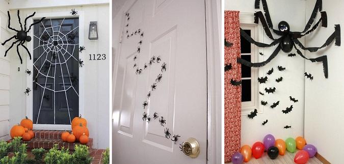 Ideas fáciles para decorar tu puerta en Halloween