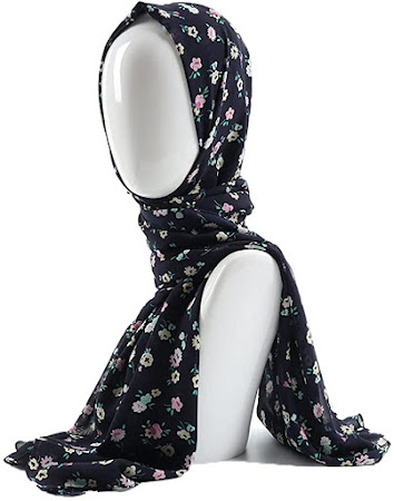 Flower Chiffon Head Scarves Hijab Shawls Pashmina