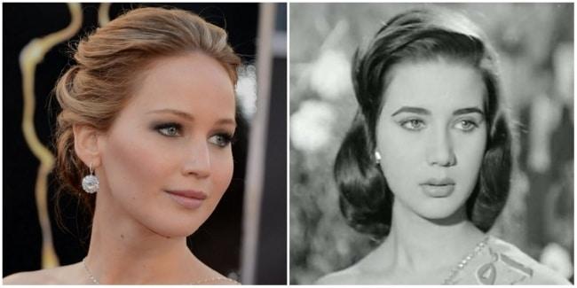 Jennifer Lawrence e famosa atriz egípcia Zubaida Tharwat