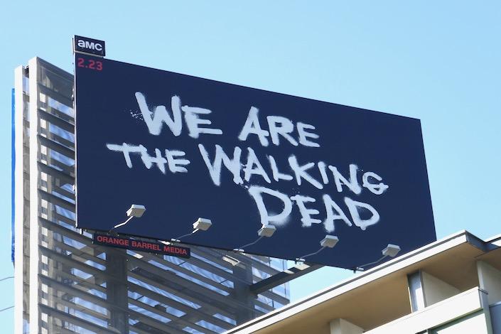 We Are The Walking Dead season 10 billboard