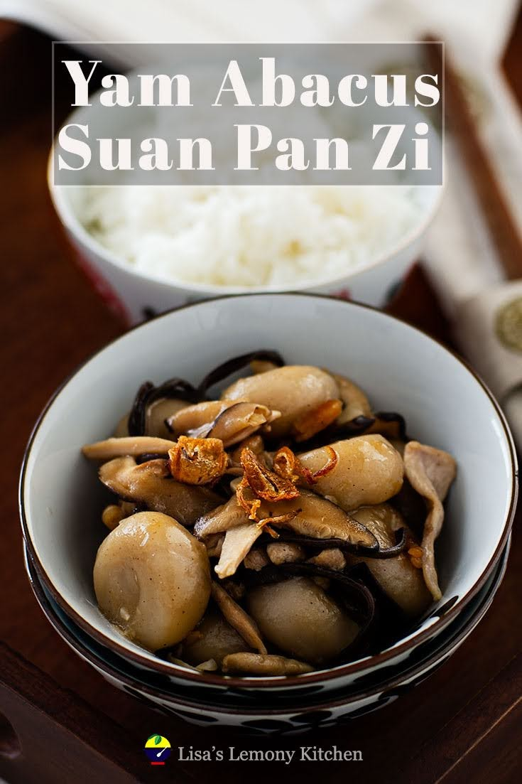 Hakka Yam Abacus Seeds | Suan Pan Zi | 客家算盘子 dish is traditional Hakka dish, made with yam and eaten during Chinese New Year celebration.  To the Chinese, especially Hakka chinese, this dish signifies wealth.