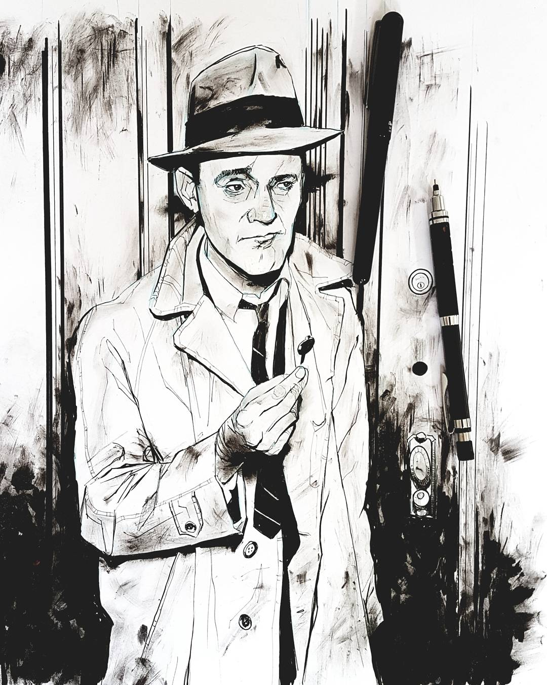 drawing Jack Lemmon The Apartment Billy Wilder