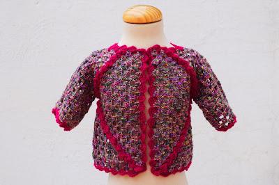 1 - Crochet IMAGEN Chaqueta de exagonos a crochet y ganchillo. MAJOVEL CROCHET