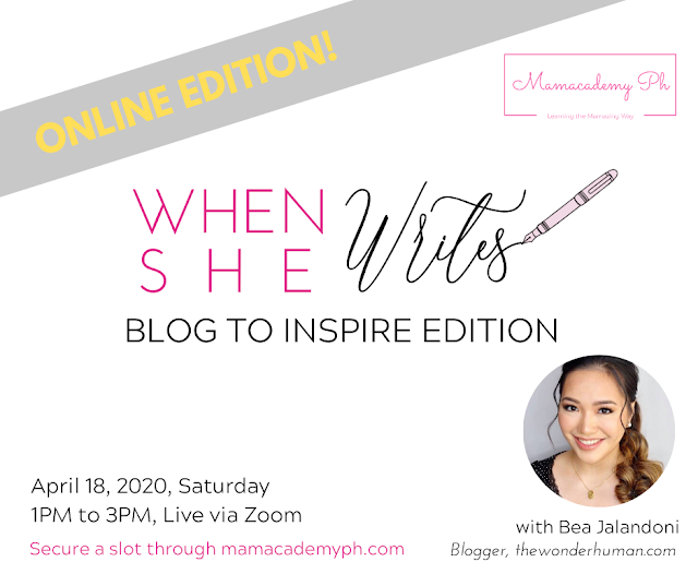 When She Speaks and When She Writes (TWH Events x Mamacademy PH)