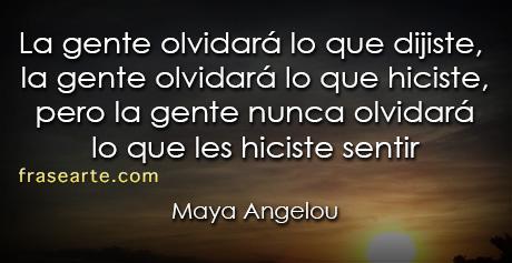 Frases para pensar - Maya Angelou