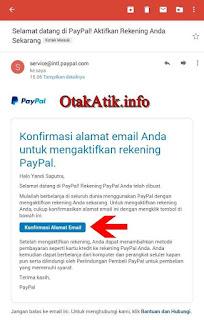 email konfirmasi dari paypal