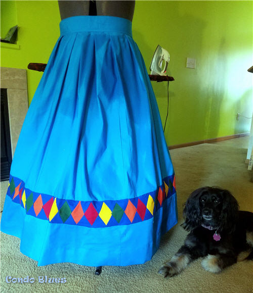 how to sew a quilted skirt border
