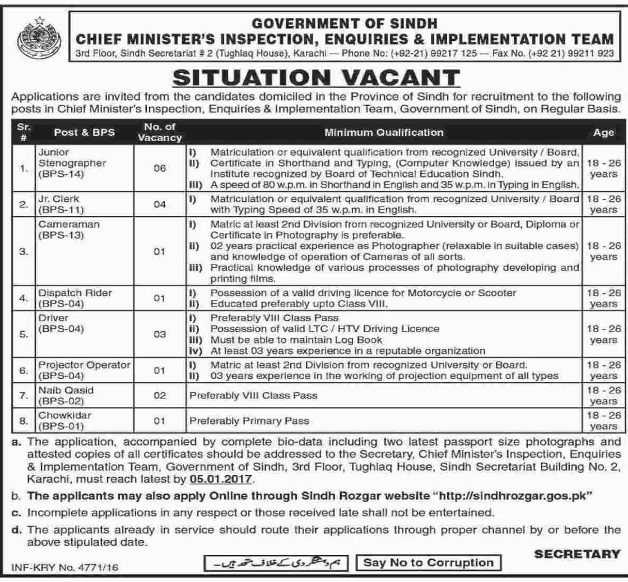 Inspection Enquiries And Implementation Team Jobs In Karachi