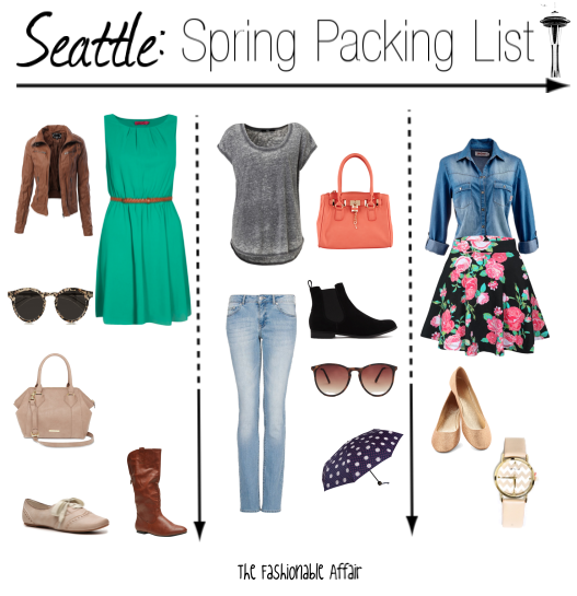 seatlle spring packing list