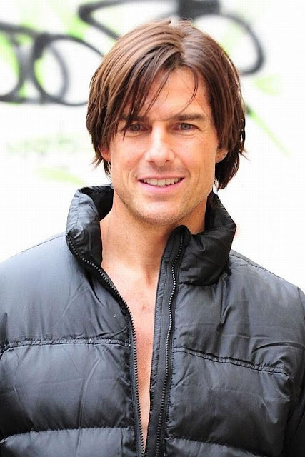 Tom Cruise Blonde Highlights Hairstyle
