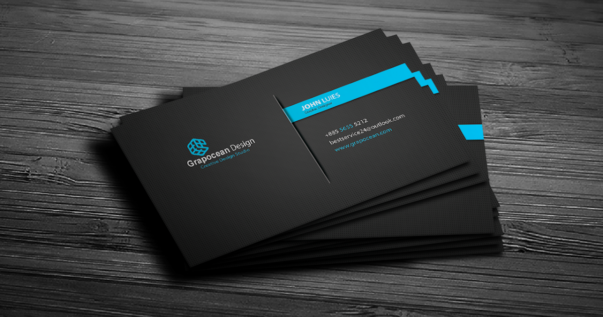 creative  modern business card  photoshop cc tutorial