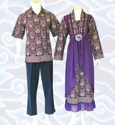 Contoh Model Baju Batik Kombinasi Sifon Terbaru