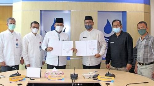 Perumda Air Minum Kota Padang Jalin Kerjasama dengan UPTD KPHL Bukit Barisan