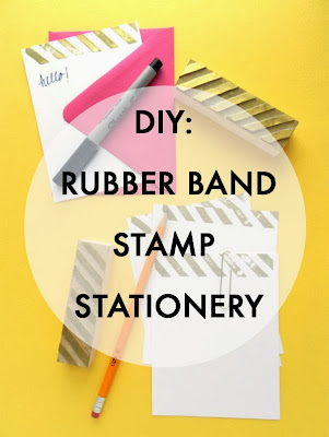 Rubber Band Stamp Stationery