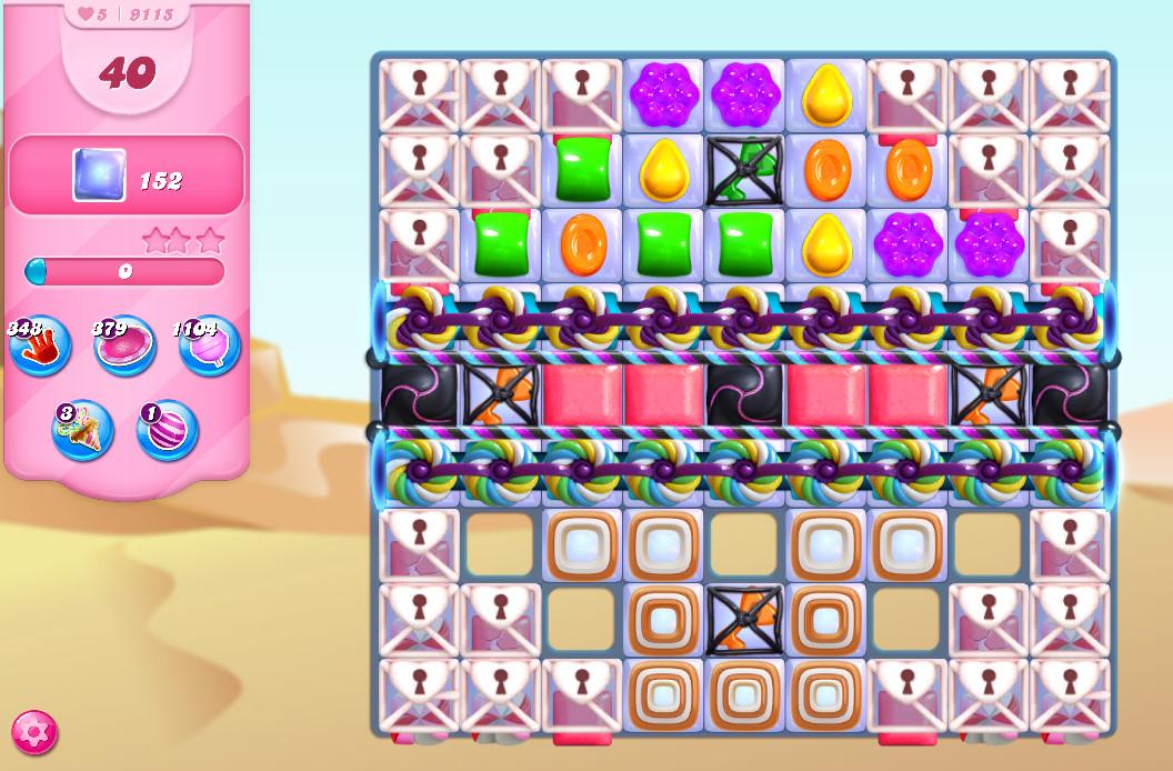 Candy Crush Saga level 9115