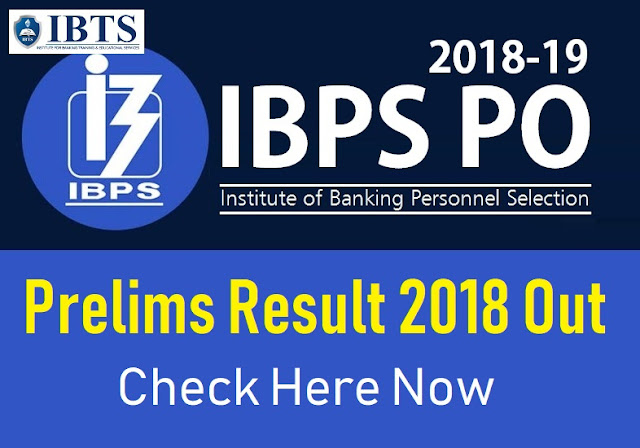 IBPS PO Prelims Result 2018 Out - Check Here Now