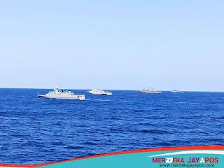 KRI SHN- 366 Pimpin Latihan Bersama 4 Kapal Unsur UNIFIL