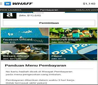 Cara melakukan pembayaran WHAFF